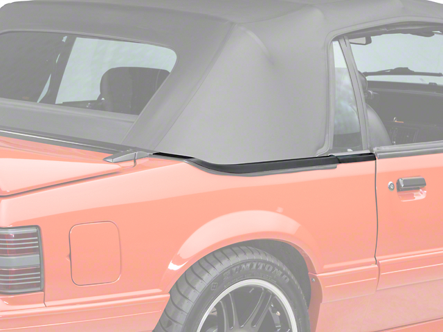 OPR Convertible Top Boot Well Weatherstripping; Right Side (87-93 Convertible)
