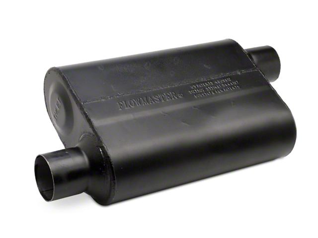 Flowmaster Super Flow 44 Series Offset/Offset Oval Muffler; 2.50-Inch (Universal Fitment)