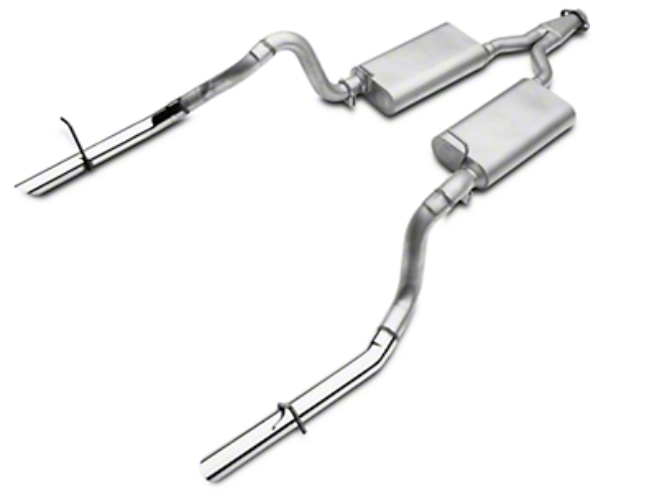 Flowmaster Force II Dual Cat-Back Exhaust (94-97 V6)