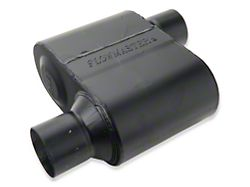 Flowmaster Super 10 Series Offset/Offset Oval Muffler; 2.50-Inch (Universal; Some Adaptation May Be Required)