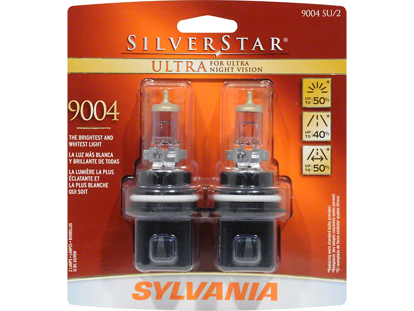 Sylvania Silverstar Ultra Headlight Bulbs - 9004 (87-93 All)