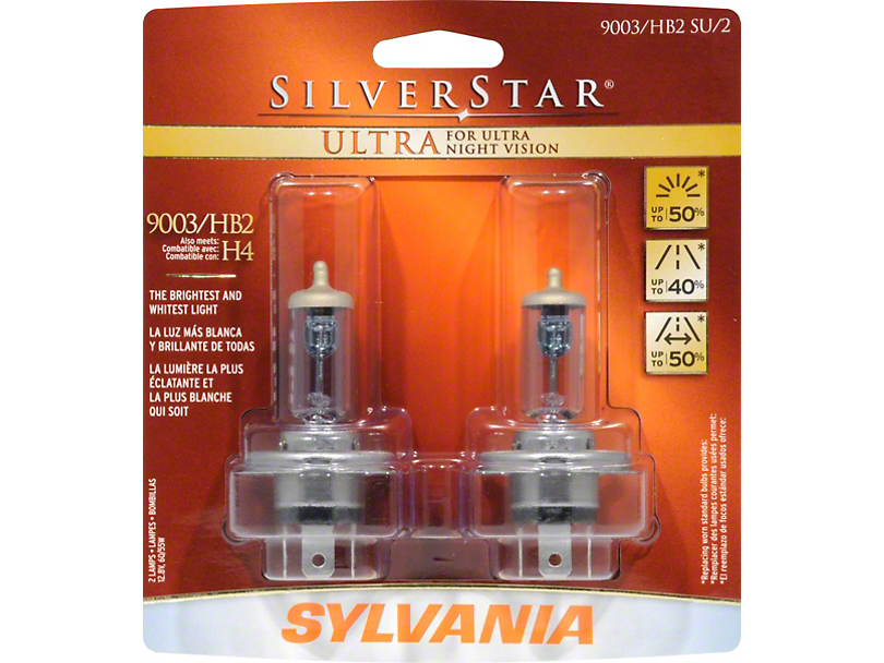 sylvania silverstar ultra light bulbs