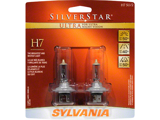 Sylvania Silverstar Ultra Headlight Bulbs; H7 (99-09 w/ Aftermarket Headlights)