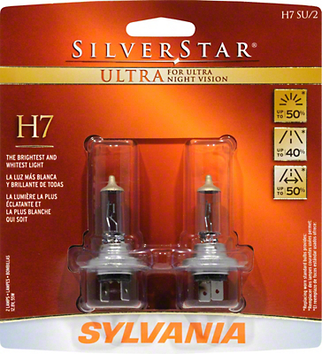 Sylvania Silverstar Ultra Headlight Bulbs - H7 (99-09 w/ Aftermarket Headlights)