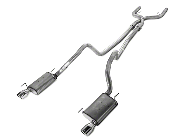 Pypes Violator True Dual Cat-Back Exhaust with Polished Tips (05-10 V6)