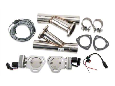 Add Pypes Electric Exhaust Cutout Kit - 2.5 in. (79-14 All)