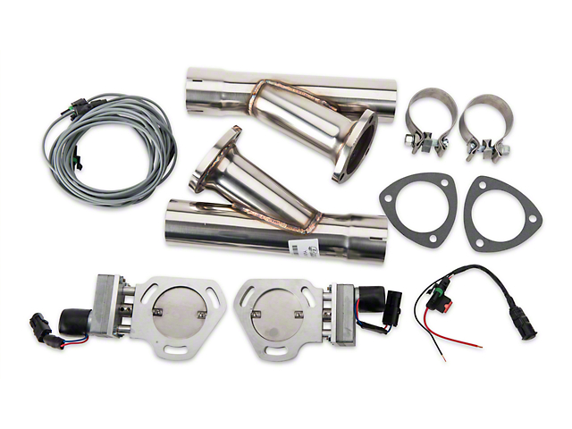 Pypes Electric Exhaust Cutout Kit; 2.50-Inch (Universal Fitment)