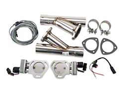 Pypes Electric Exhaust Cutout Kit - 2.5 in. (Universal Fitment)