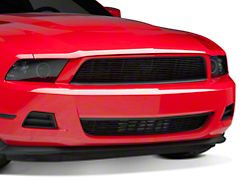 Modern Billet Pony Delete Upper and Lower Grille; Black (10-12 V6)