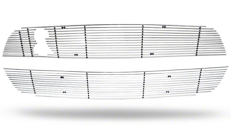 Modern Billet Billet Upper & Lower Grille Combo - Polished (10-12 GT500)