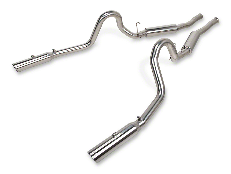 Pypes Pype-Bomb Cat-Back Exhaust with Polished Tips (1986 GT; 86-93 LX; 94-04 GT, Mach 1, Bullitt)