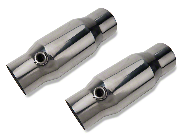 Pypes High Flow Catalytic Converter Kit; 2.5 Inch Inlet/Outlet; Metallic (11-14 All)
