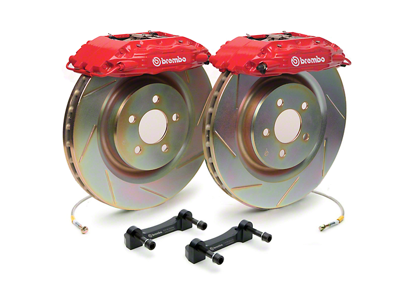 Brembo Brake Kit >> Brembo Mustang Gt500 Front Big Brake Kit Slotted Rotors 1b5