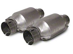 SLP High Flow Catalytic Converter Kit; 2.5 Inch Inlet and Outlet (96-10 All with SLP X-Pipes)