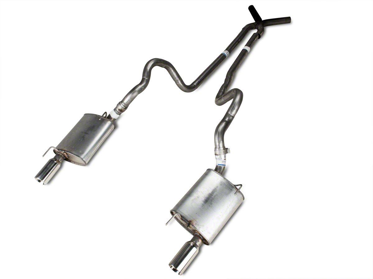 Performance 1-Chamber Muffler Dual Exhaust Kit Chrome Tips for Dodge Ram 07-08