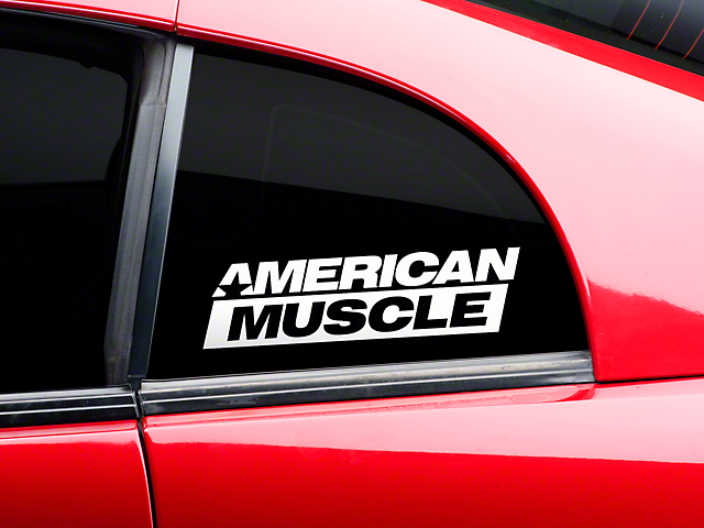 American Muscle Graphics AmericanMuscle Quarter Window Decal - White (79-17 All)