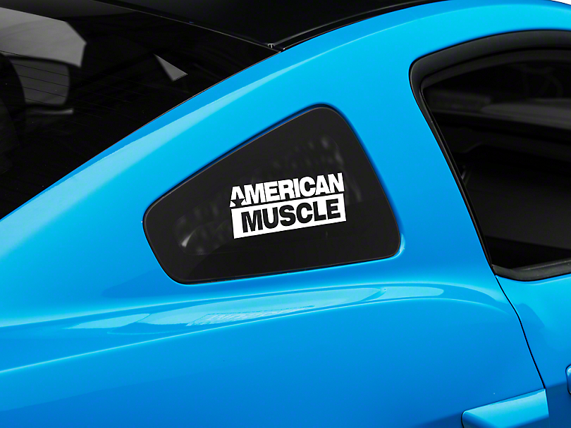 American Muscle Graphics AmericanMuscle Quarter Window Decal - White (05-14 All)