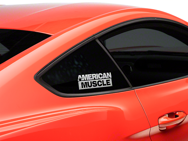American Muscle Graphics AmericanMuscle Quarter Window Decal - White (15-18 All)