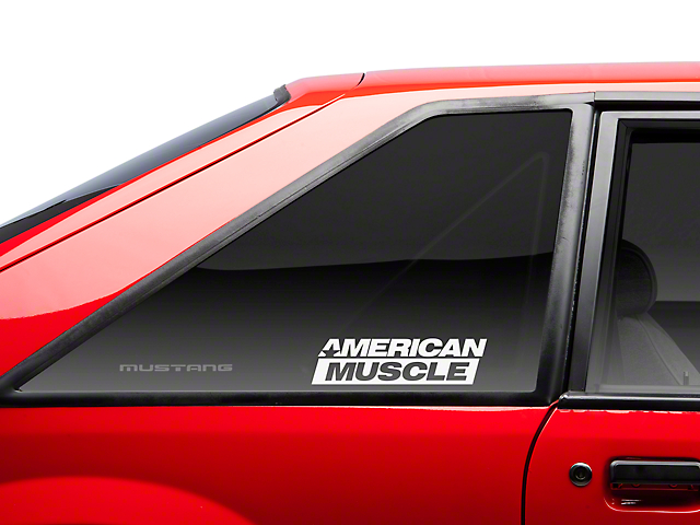 American muscle graphics americanmuscle quarter window decal white 79 93 all