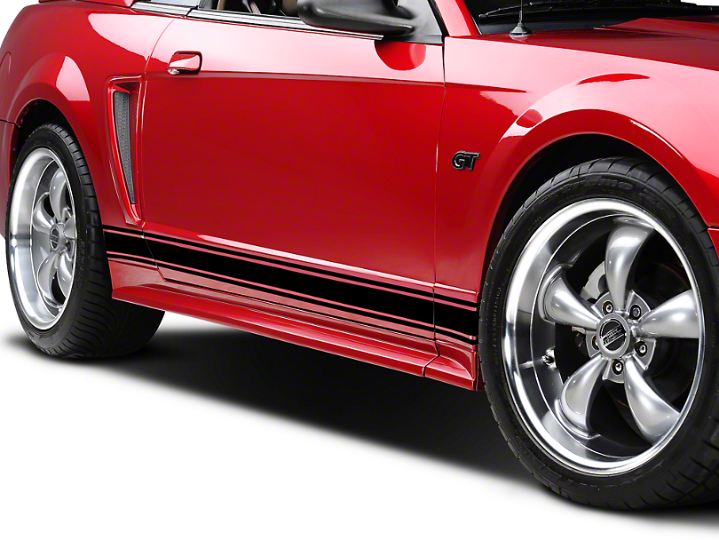 American Muscle Graphics Black Rocker Stripes (79-18 All)