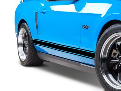American Muscle Graphics Black Rocker Stripes (05-14 All)