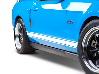 American Muscle Graphics White Rocker Stripes (05-14 All)