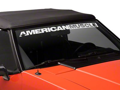 American Muscle Graphics AmericanMuscle Windshield Banner - White (79-93 All)