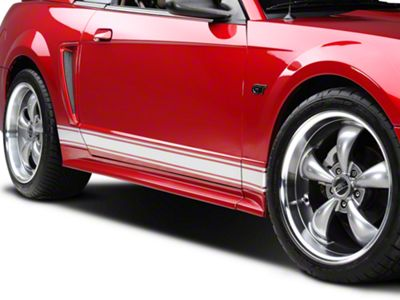 American Muscle Graphics Silver Rocker Stripes (79-19 All)