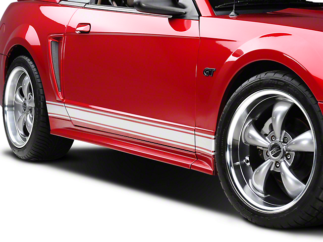 American Muscle Graphics Silver Rocker Stripes (79-18 All)