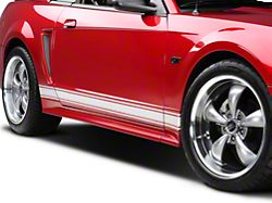 American Muscle Graphics Rocker Stripes; Silver (79-20 All)