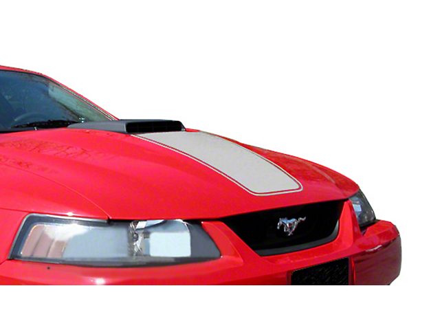 American Muscle Graphics Silver Mach 1 Hood Decal (03-04 Mach 1; 99-04 w/ CDC Shaker Systems)