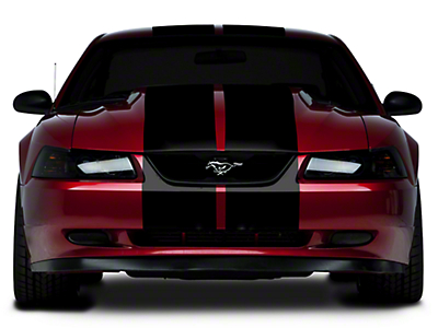 American Muscle Graphics Black Lemans Stripes - 12 in. (94-04 All)