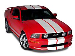 American Muscle Graphics White Lemans Stripes - 12 in. (79-19 All)