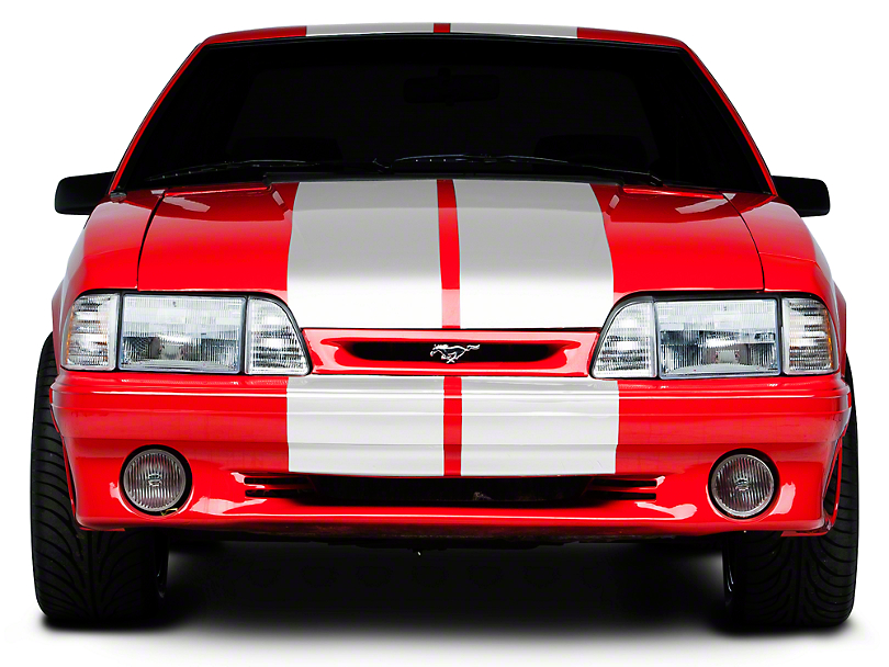 American Muscle Graphics Lemans Stripes; White; 12-Inch (79-93 All)