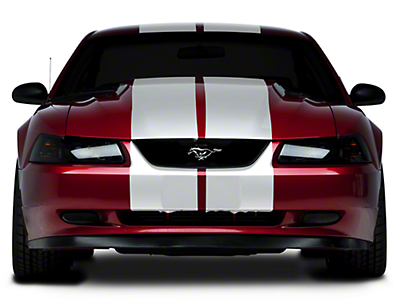 American Muscle Graphics White Lemans Stripes - 12 in. (94-04 All)