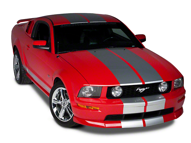 American Muscle Graphics Silver Lemans Stripes - 12 in. (79-20 All)