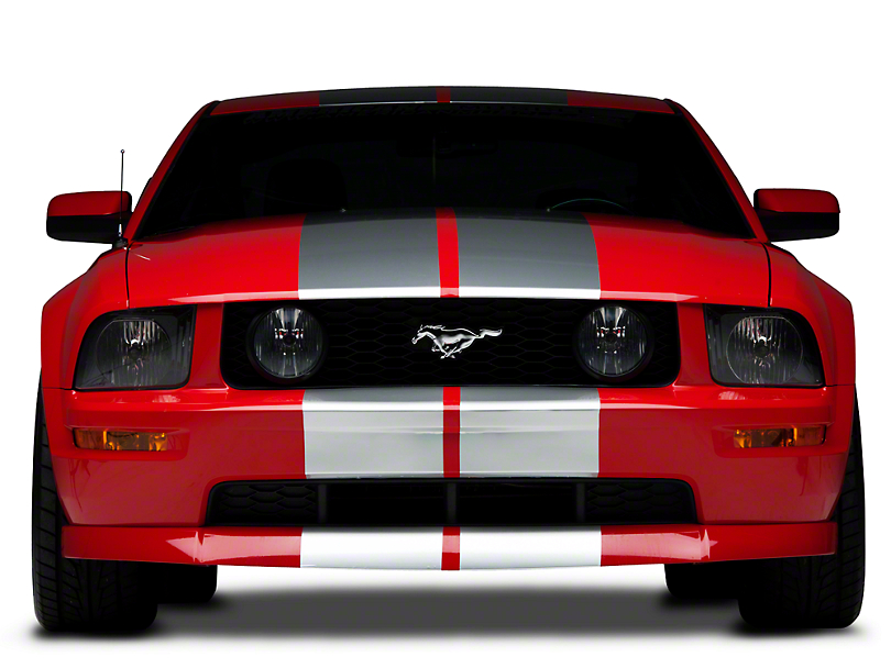 American Muscle Graphics Silver Lemans Stripes - 12 in. (05-14 All)
