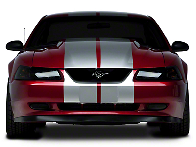 American Muscle Graphics Silver Lemans Stripes - 12 in. (94-04 All)