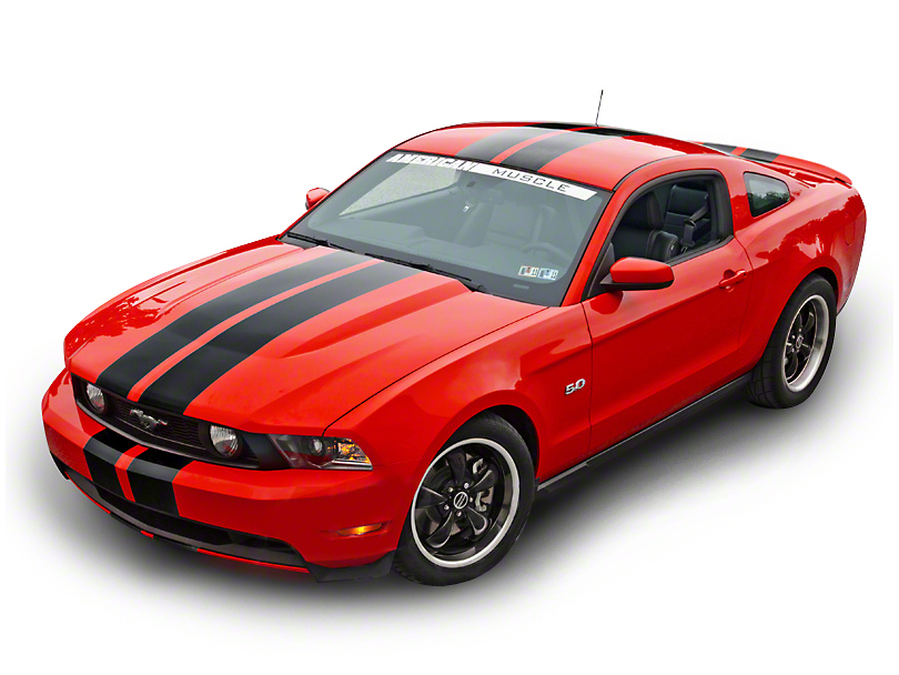 American Muscle Graphics Black Lemans Stripes - 8 in. (79-18 All)