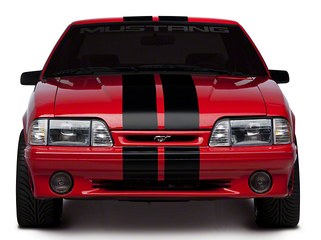 American Muscle Graphics Black Lemans Stripes - 8 in. (79-93 All)