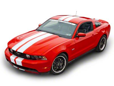 American Muscle Graphics White Lemans Stripes - 8 in. (79-19 All)