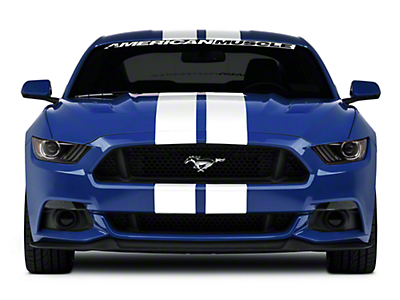 American Muscle Graphics White Lemans Stripes - 8 in. (15-18 All)