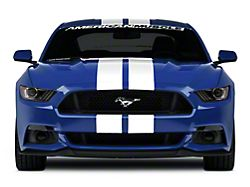 American Muscle Graphics Lemans Stripes; White; 8-Inch (15-20 All)