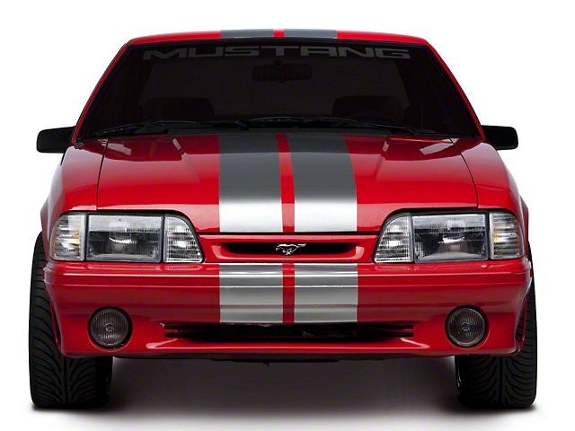 American Muscle Graphics Lemans Stripes; Silver; 8-Inch (79-93 All)