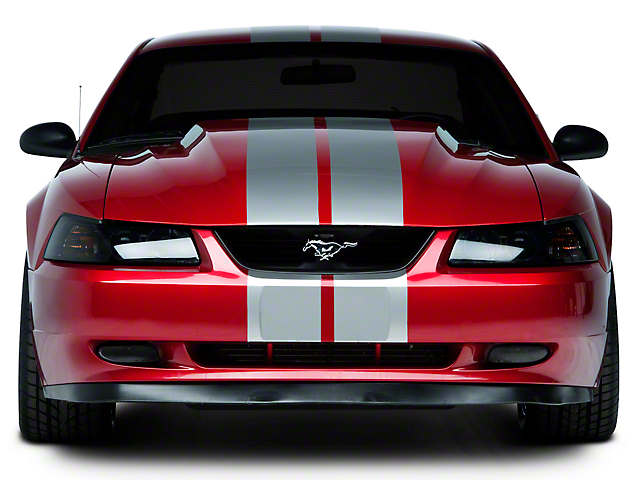 American Muscle Graphics Lemans Stripes; Silver; 8-Inch (94-04 All)