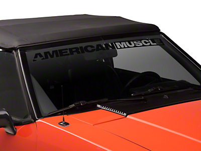 American Muscle Graphics AmericanMuscle Windshield Banner - Black (79-93 All)