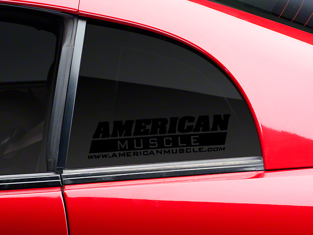American Muscle Graphics AmericanMuscle Quarter Window Decal - Black (79-14 All)