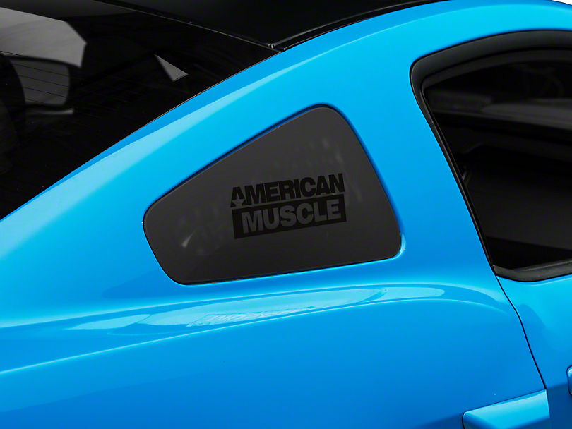American Muscle Graphics AmericanMuscle Quarter Window Decal - Black (05-14 All)