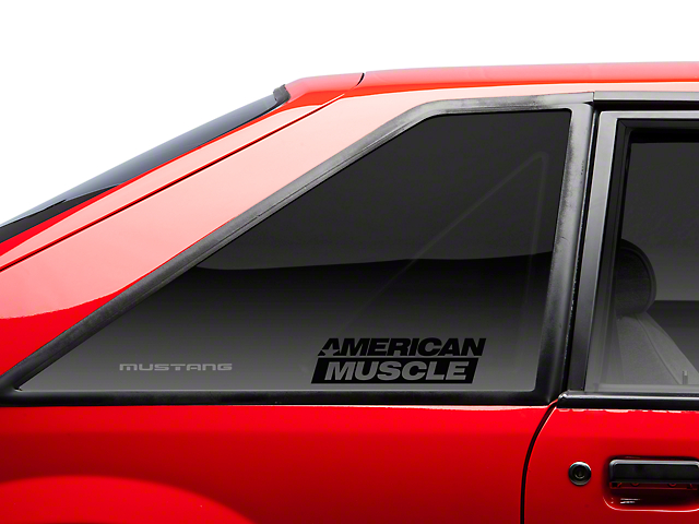 American Muscle Graphics AmericanMuscle Quarter Window Decal - Black (79-93 All)