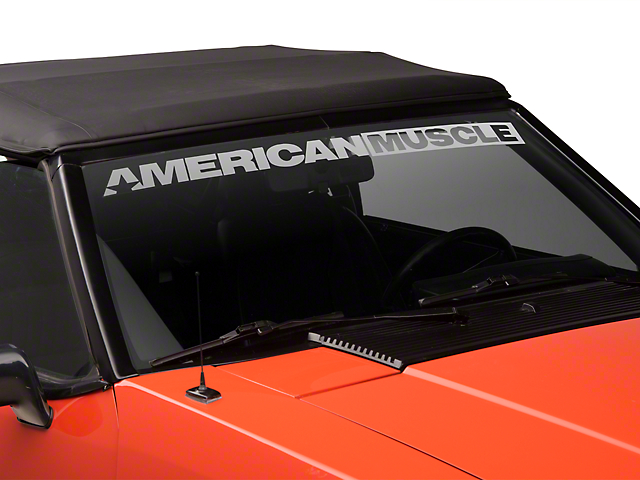American Muscle Graphics AmericanMuscle Windshield Banner - Frosted (79-93 All)